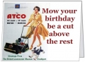 Atco Lady Birthday Card