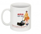1956 Vintage Atco Advert with Promotional Lady