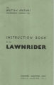 British Anzani Lawnrider Instruction Book