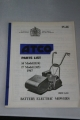 "Atco Parts List for 14"" & 17"" Battery Electric Models (1967)"